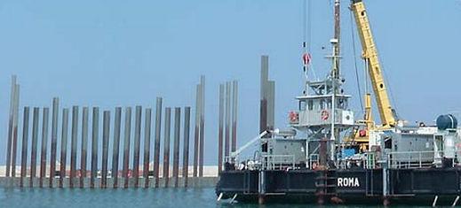 Stahlrohrpfahl Versorgung